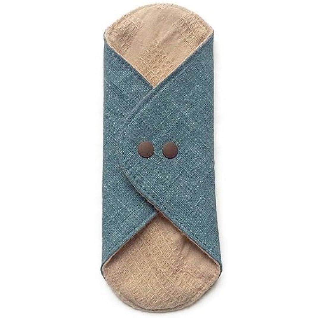 アクロバット不愉快に啓発する華布のオーガニックコットンのあたため布 Mサイズ(約15×約15cm) 彩り(瑠璃)