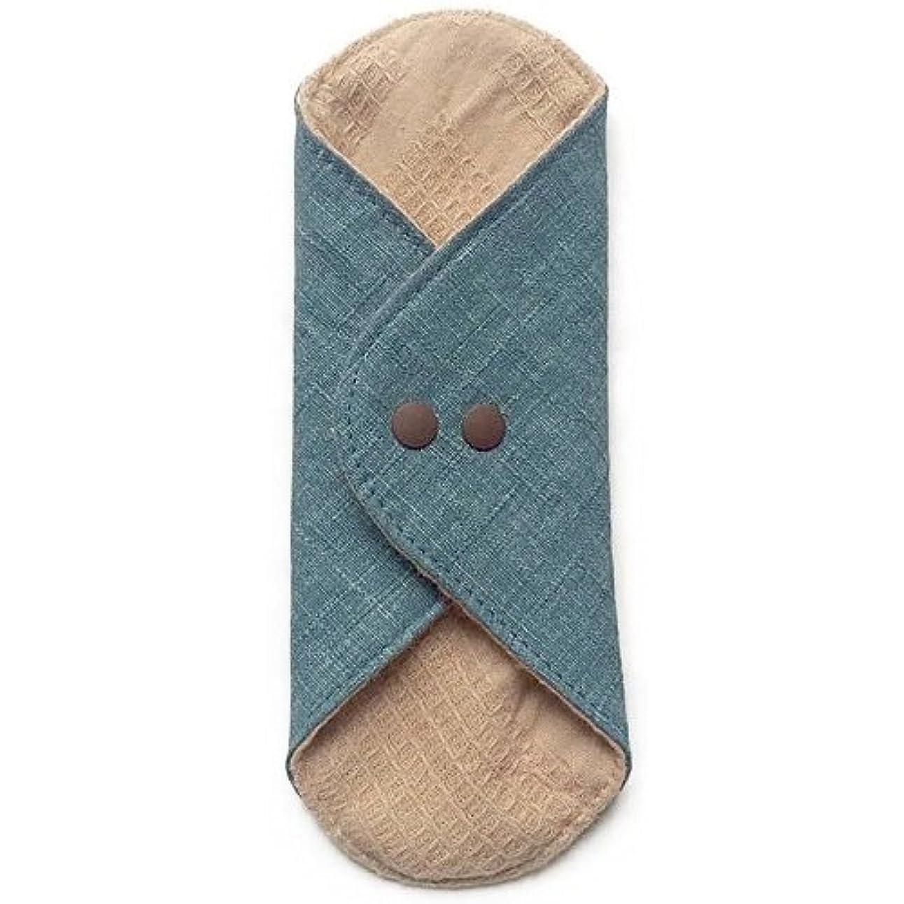刻む酸化物トリクル華布のオーガニックコットンのあたため布 Mサイズ(約15×約15cm) 彩り(瑠璃)