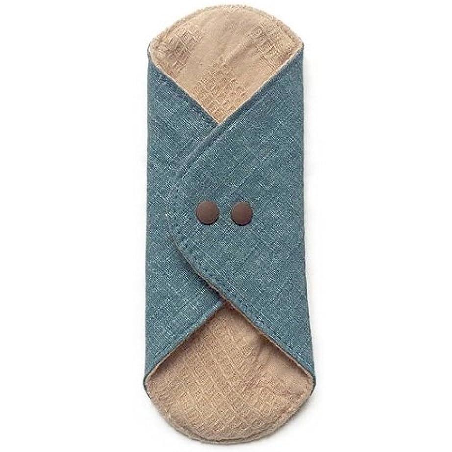 ブロックサーキットに行く楽観的華布のオーガニックコットンのあたため布 Mサイズ(約15×約15cm) 彩り(瑠璃)