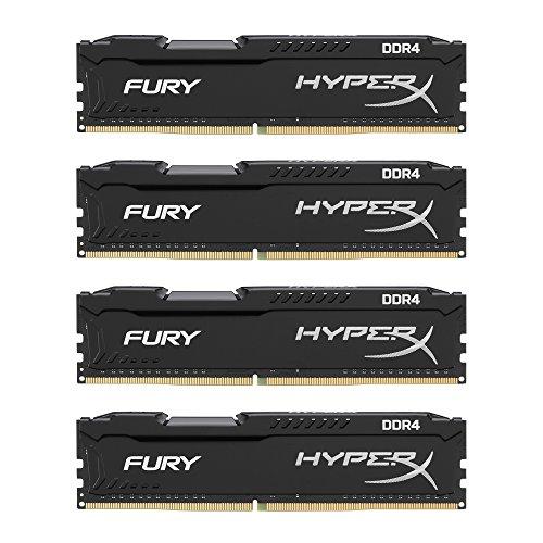 Kingston デスクトップ オーバークロックPC用メモリ DDR4-2666 16GBx4枚 HyperX FURY CL16 1.2V HX426C16FBK4/64 永久保証