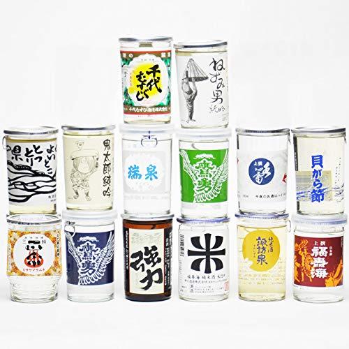 鳥取県の日本酒 ワンカップ 飲み比べ セット 180ml×14種類 地酒 きき酒 土産 お酒 ギフト お歳暮 父の日 お中元 プレゼント用におすすめ