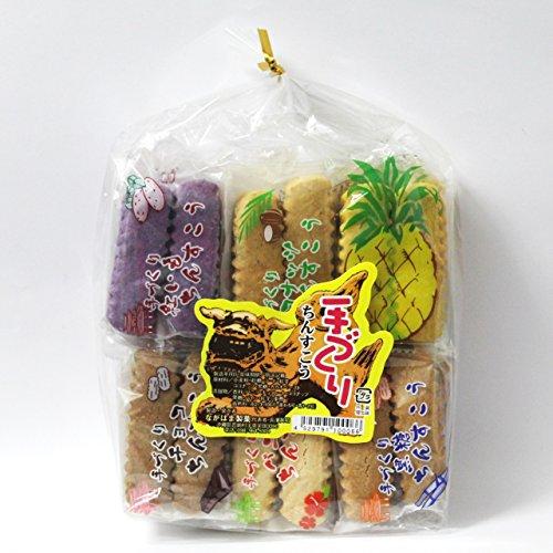 ちんすこう 袋詰め6点セット (2個×18袋入り) (黒糖・ココナッツ・チョコ・バニラ・紅いも・パイン) ×2袋 ながはま製菓 琉球銘菓 昔ながらの手作りちんすこう クッキーのようなサクサク食感 沖縄土産にも最適