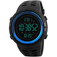 Men Watches Digital LED Screen Large Face Backlight Military Waterproof Watch
