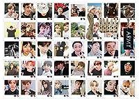 BTS はがき40枚セット - BangTan Boys Answer Love Yourself Tear Lomoカードセット 写真クリップ10個と紐2本 (長さ4m各紐) BTSキーチェーン1個付き