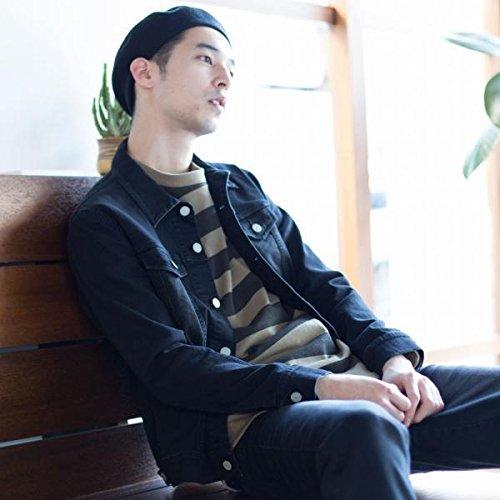 コーエン(メンズ)(coen) 【セットアップ企画】ストレッチデニムジャケット【BLACK/LARGE】