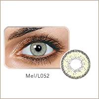 1 Pair Cosplay Cosmetic Contact Lenses Crazy Color Big Circle Eyes Makeup Party Beauty Lens Women Eyes Make Up Yearly Use with Case-Mel