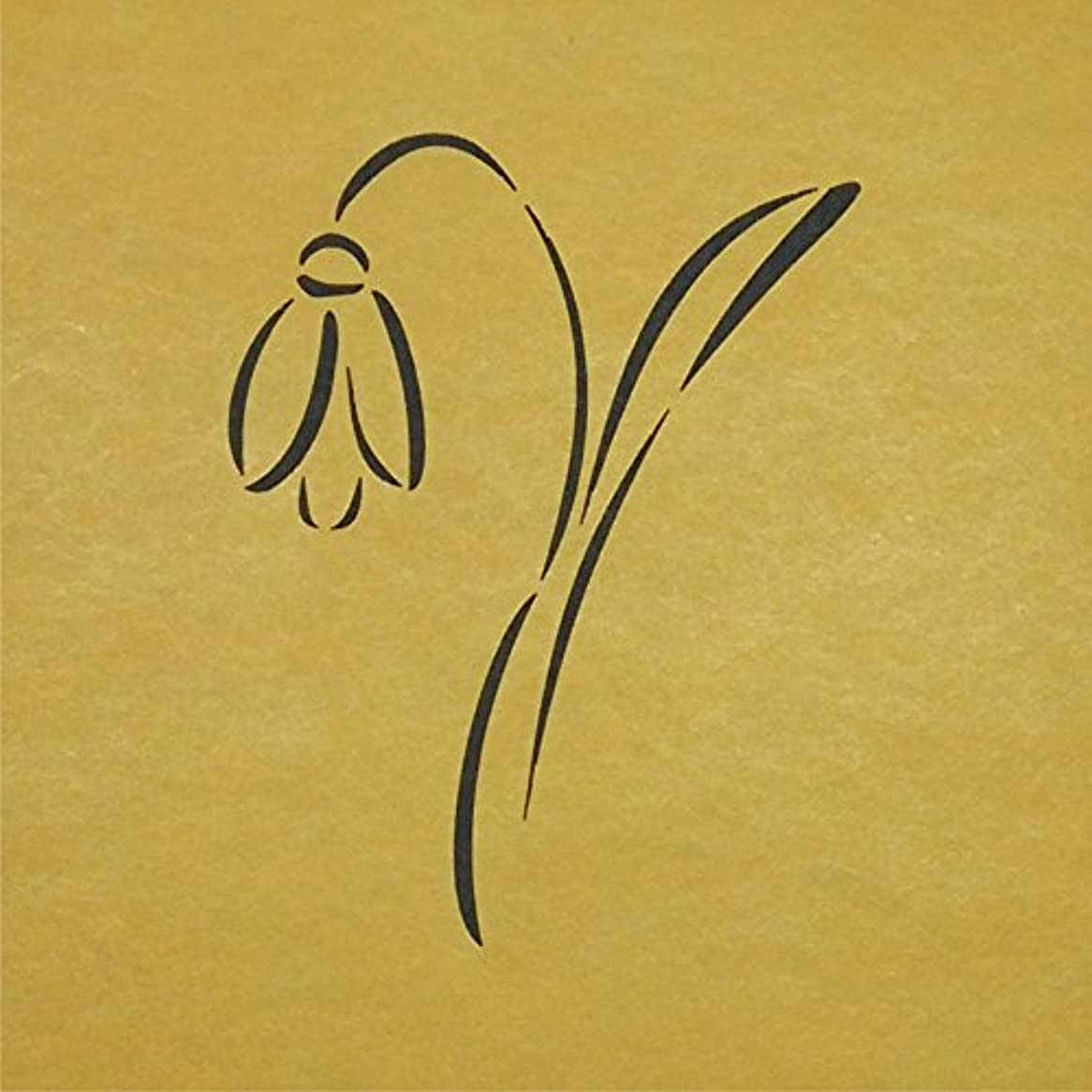 当社多用途軽くステンシルシート 花-3 3サイズ型紙  (20cm)
