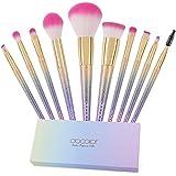 Docolor ドゥカラー 化粧筆 メイクブラシ 10本セット 幻のレインボーブラシ