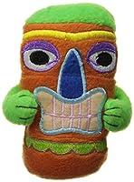 Hip Doggie HD-8STKT-O Tiki Toy with Squeaker - Orange