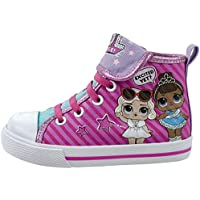 L.O.L Surprise! Girls Shoe, Miss Baby and Leading Baby Hi Top Sneaker, Pink White, Little Kid/Big Kid Size 7 to 3