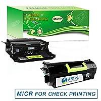 ABCink MS817(TN+DR) 互換MICRトナーカートリッジセット Lexmark MS417 MS517 MS617 MX417 MX517 MX617 MS817 MS818プリンター用 (ドラム1個+トナー1個ブラック)