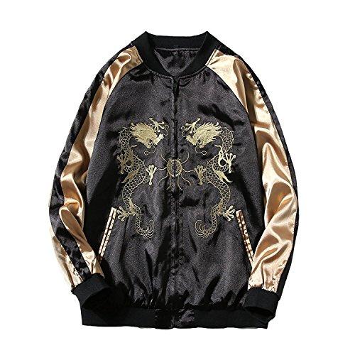 スカジャン メンズ 和柄 ブルゾン ジャケット カジュアル アウター 春秋 全31色 刺繍 大きサイズ対応