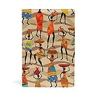 水彩アフリカ女性 ブックカバー 文庫 a5 皮革 おしゃれ 文庫本カバー 資料 収納入れ オフィス用品 読書 雑貨 プレゼント耐久性に優れ