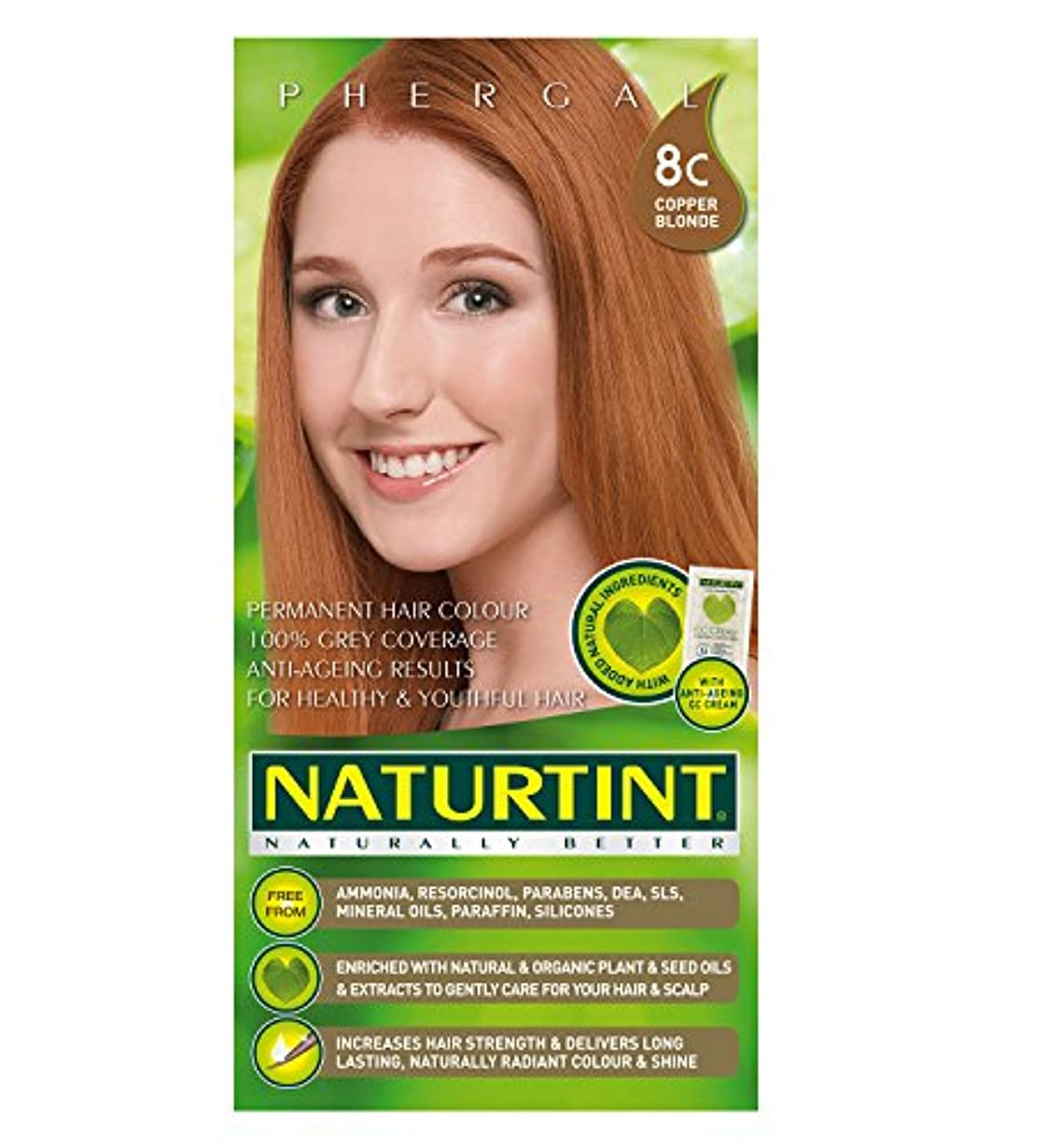 属性等しい毒液Naturtint Copper Blonde Hair Color (8C) (並行輸入品)