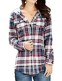 [Flapkash(フラップカッシュ)] マドラスチェックシャツ フード付き 羽織 長袖 カジュアル 秋 冬 レディース