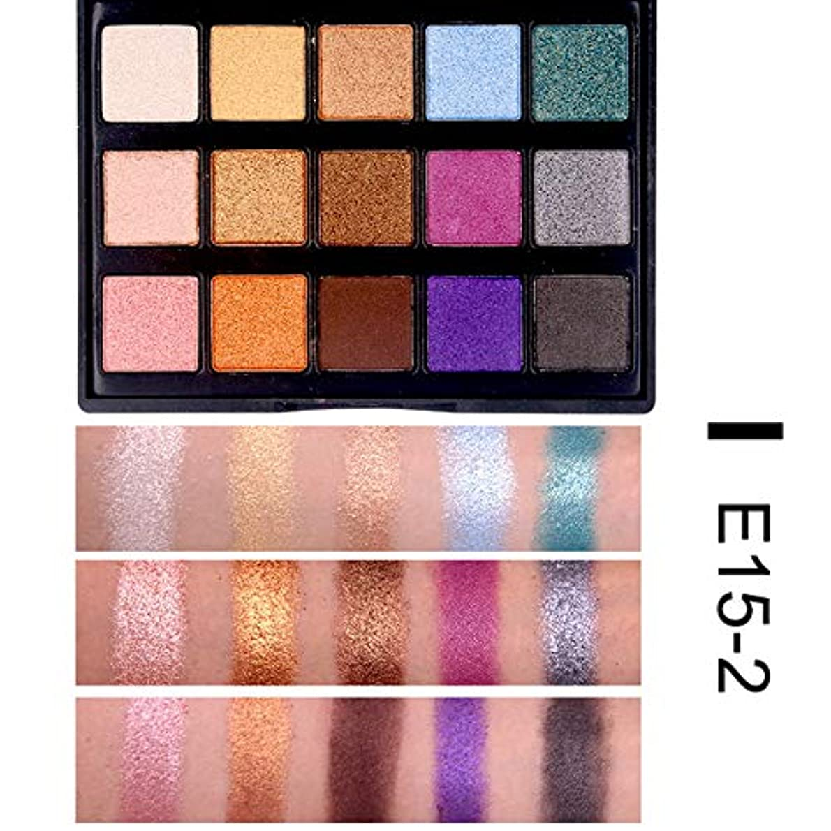 ふけるビーム不振Rabugogo 15色ミニアイシャドウパウダーマットアイシャドウ化粧品メイクアップ EP15#2