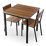 テーブル チェア ダイニングテーブル ダイニングセット コンパクト 3点セット 幅75 2人掛け ウォルナット