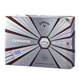 キャロウェイ(Callaway) ゴルフボール Chrome Soft ボールトリプルトラック1ダース メンズ 6427455120044 ホワイト