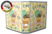バインダー 2 Ring Binder Lever Arch Folder A4 printed Ice Cream