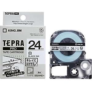 キングジム テープカートリッジ テプラPRO 24mm SS24KE 白