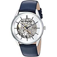 Kenneth Cole New York Men's Automatic Stainless Steel Case with Genuine Leather Strap Casual Watch (KC50192004/07/06/05/02/01)