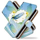 [KEIO ブランド 正規品] XPERIA Z3 SOL26 ケース 手帳型 インコ SOL26 手帳型ケース 鳥 XPERIA カバー Z3 カバー SOL26 セキセイインコ エクスペリア ケース エクスペリアZ3 ケース SOL ケース 26 オウム ittn羽インコ青t0039