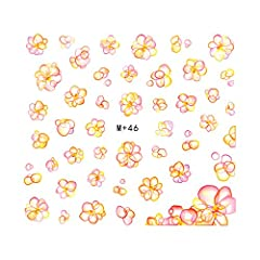 【m+46】バブルフラワーシール レジン クラフト セルフネイル 泡 花 バブル ネイルシール
