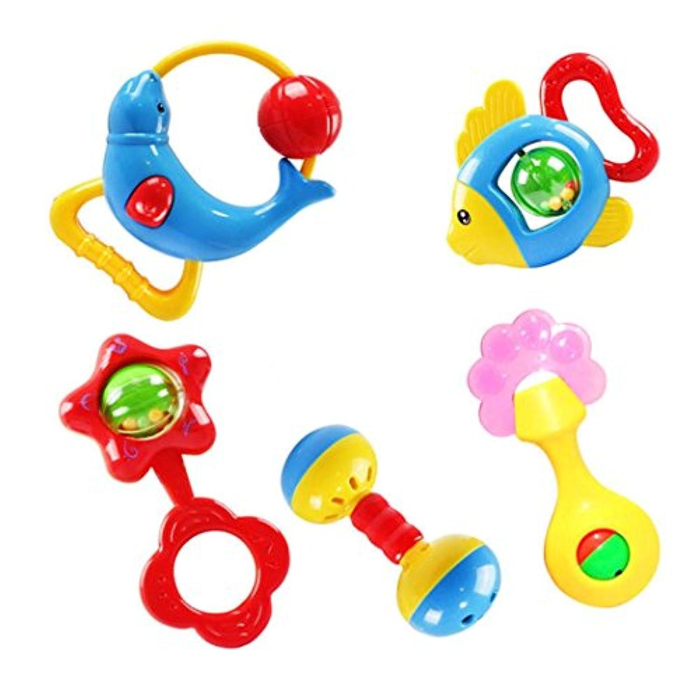 Usstore Kid Baby Child Animal Handbells Developmental Toy Bells Kids Baby Rattle Lovely Toy Gift