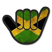 2 x 20cm ジャマイカの旗 - ノートPCやタブレット用ビニールステッカー #6183