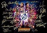 Avengers infinity War印刷RDJ、Stan Lee、クリス・プラット、トム・ヒドルストン、Chris Hemsworth, Chris Evans、ブラックパンサー、スパイダーマン、キャプテンアメリカ、アイアンマン 11.7