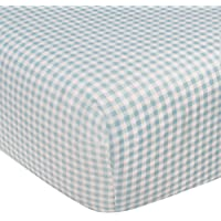 Kidsline Who's At The Zoo Fitted Sheet, Honeycomb, Blue by KidsLine
