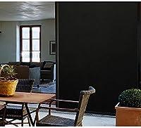 Yiwanda 建築ガラスフィルム 遮光 断熱 日よけ 窓ガラスフィルム 風呂 浴室 目隠しシート貼ってはがせる 外から見えない おしゃれ 真っ黒 (70*3000CM,5)