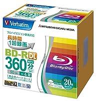 三菱ケミカルメディア ブルーレイBD-R Verbatim 1回録画用 BD-R DL VBR260YP20V1 (片面2層//1-4倍速/20枚)