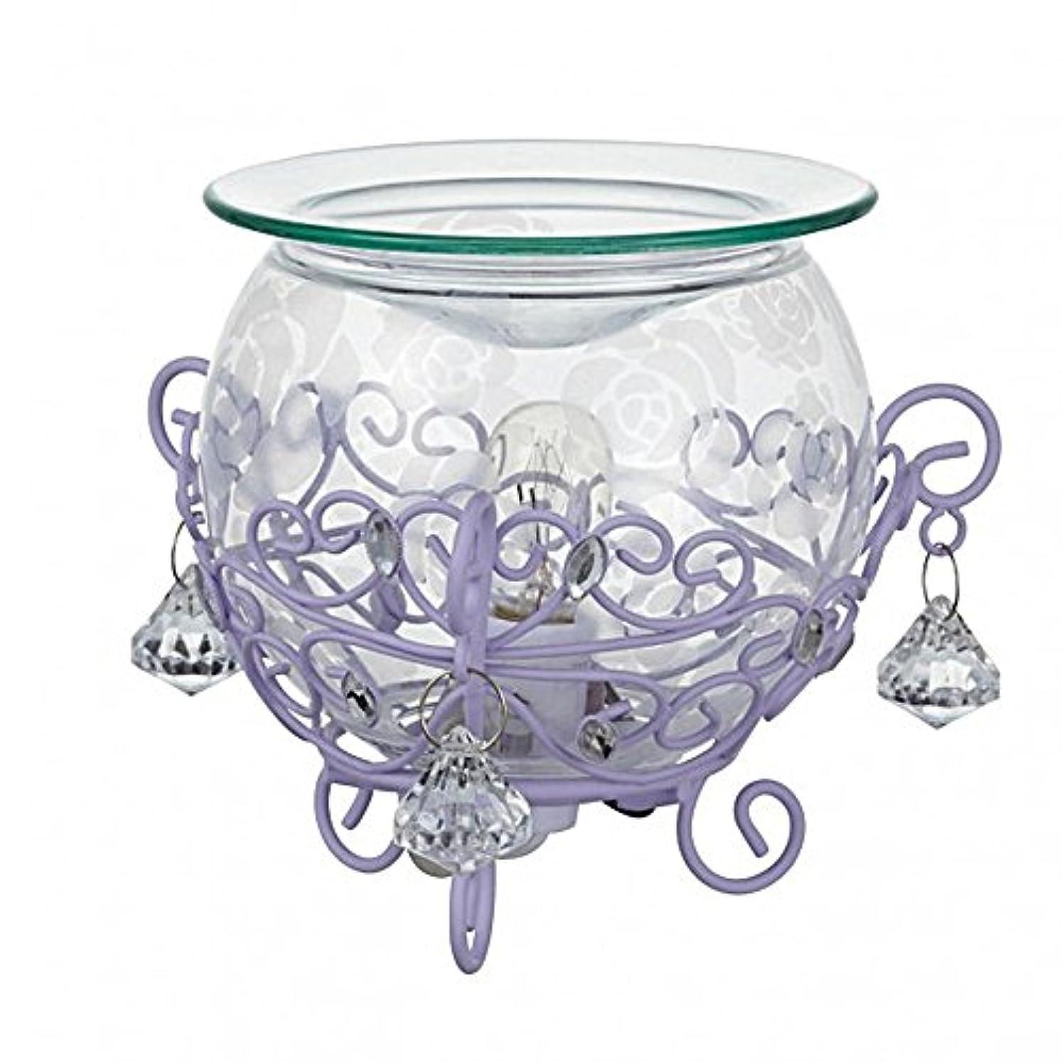 ファンド花弁潤滑するローズガラスアロマライト (クリア×パープル)