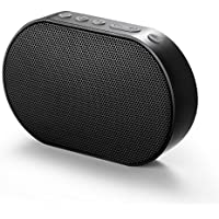 GGMM ポータブル スピーカー ワイヤレス ブルートゥース スピーカー 高音質 Amazon Alexa 音声サービス スマートホン/タブレットなど対応 14時間連続再生 アウトドア ミニ スピーカー E2 (Wi-Fi+Bluetooth, 黒)