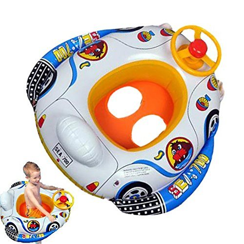 amzmonnsuta 赤ちゃんうきわ 水遊び 足入れ浮き輪 子供・ベビー 水泳・プール・海用 車の形