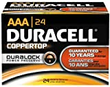Duracell MN2400BKD CopperTop Alkaline-Manganese Dioxide Battery, AAA Size, 1.5V (Case of 144) by Dur
