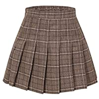 SANGTREE Girls & Women's Pleated Skirt with Comfy Stretchy Band, 2 Years - Adult XL