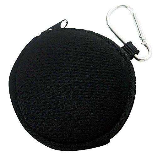 ブラック / カラビナ付きコインケース