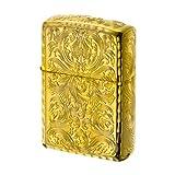 【ZIPPO】 ジッポーライター オイル ライター アーマー ARMOR KING II (キング2) 5面加工 アラベスク GD ゴールド 金チャンバー仕様