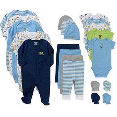 Garanimals Newborn Boy 21-pc Layette Set and 2-pc Baby Wash Cloth Bundle (0-3 Months) by Garanimals by Garanimals [並行輸入品]