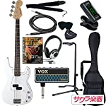 SELDER セルダー ベース プレシジョンベースタイプ PB-30/WH/W VOX amPlug2【アンプラグ2 AP-BS(BASS)】サクラ楽器オリジナルセット