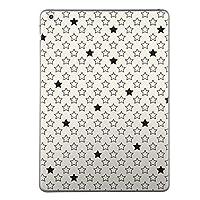 第6世代 iPad 9.7インチ 9.7inch iPad6 2018年モデル A1893 A1954 スキンシール apple アップル アイパッド タブレット tablet シール ステッカー ケース 保護シール 背面 人気 単品 おしゃれ おしゃれ チェック・ボーダー 白黒 星 スター 模様 007512