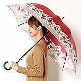 ミラ・ショーン(雑貨)(mila schon) 雨傘(ジャンプ傘)【耐風】(レディース)花柄【34ワイン/60 】