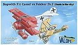 バロム 1/144 イギリス空軍 キャメルF.1 vs ドイツ空軍 フォッカーDr.1 各2機セット プラモデル CV14421