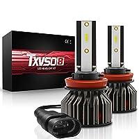 H1/H7/H8/H9/H11 LED ヘッドライトバルブ 6000K 9V-32V 100W 10000LM G4 シリーバルブ(2個),H8/H9/H11