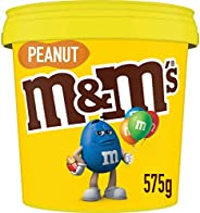 M&M's Peanut Chocolate Party Size Bucket (575g) (Packaging m
