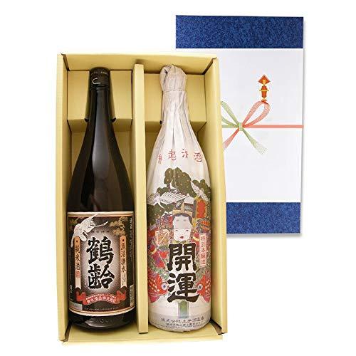 母の日 ギフト 入谷蔵おすすめ 日本酒2本セット 鶴齢 純米&開運 特別本醸造 祝酒
