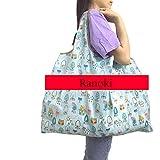 Ranoki エコバッグ 大容量 買い物袋 環境にやさしい 折り畳み 軽量 繰り返し水洗い 収納 ショッピングバッグ…