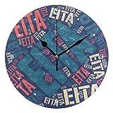 壁掛け時計 連続秒針 サイレント アナログ ウォールクロック 人気の名前 瑛太 EITA えいた柄 掛け時計 インテリア [並行輸入品]